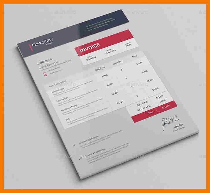 6+ best invoice designs | mailroom clerk