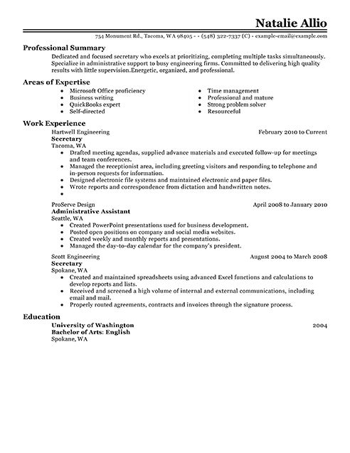examples resume good resume objective examples resumes retail ...
