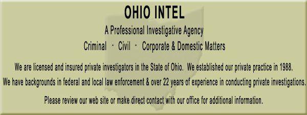 Private Investigator Canton Ohio - Private Detective Stark County
