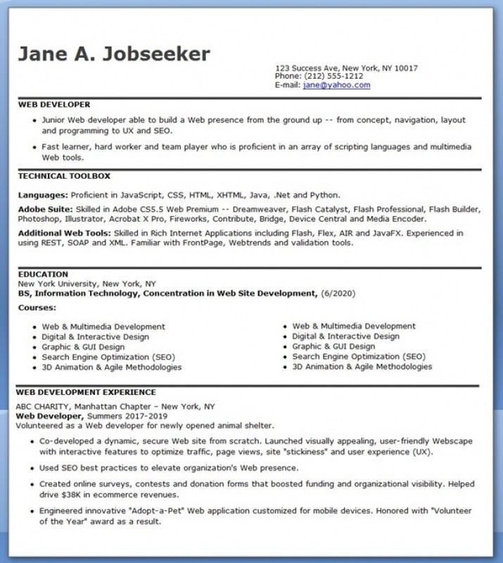 1 Year Experience Resume Format For Java - Contegri.com