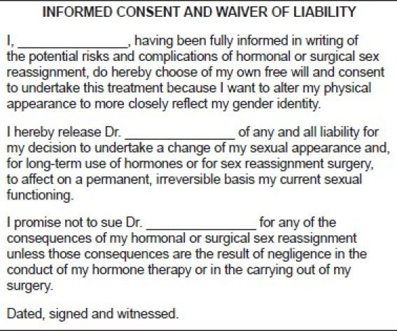 Waiver of liability form | Figure 1 of 3