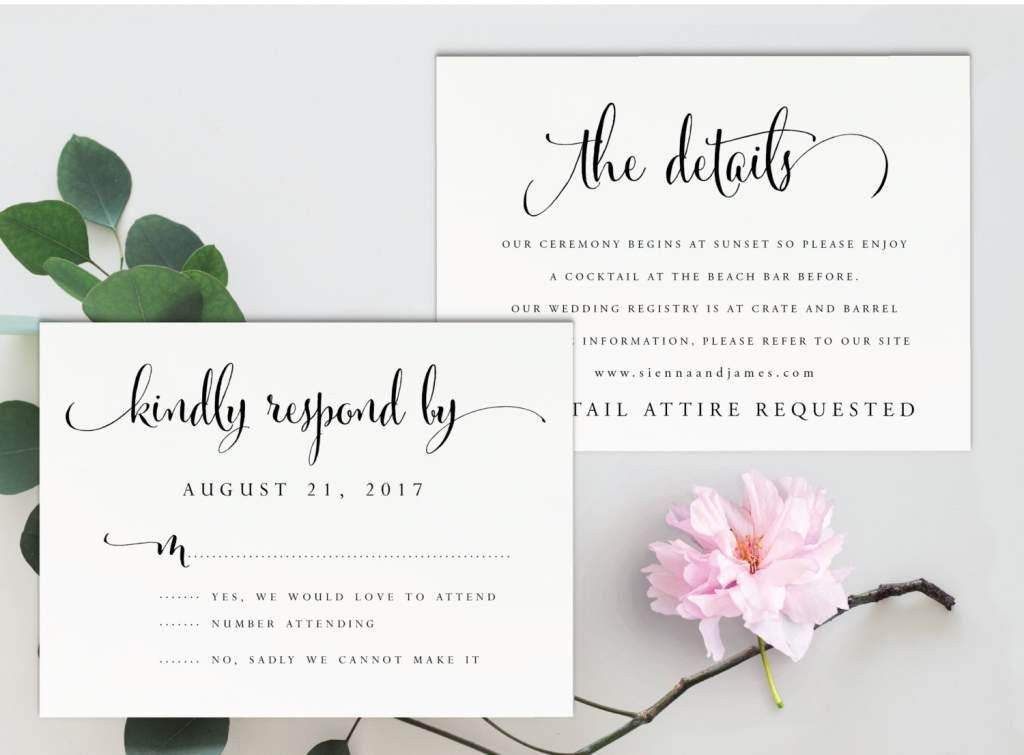 Free Printable Wedding Invitation Template | Wedding Invitation ...