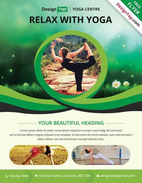 Get Free Yoga PSD Flyer Template PSD - FlyerShitter.com
