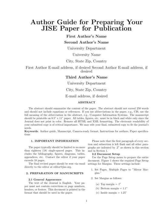 JISE Template for Publication (Journal of Information Systems ...