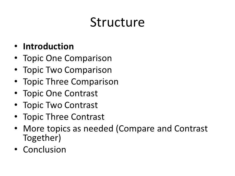 How to Write a Compare/Contrast Paper. Overview A Comparison or ...
