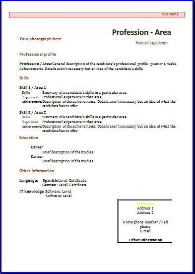 CV templates: Functional 3 | Resume templates