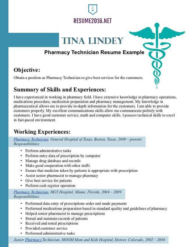 Pharmacist resume example 2016 •