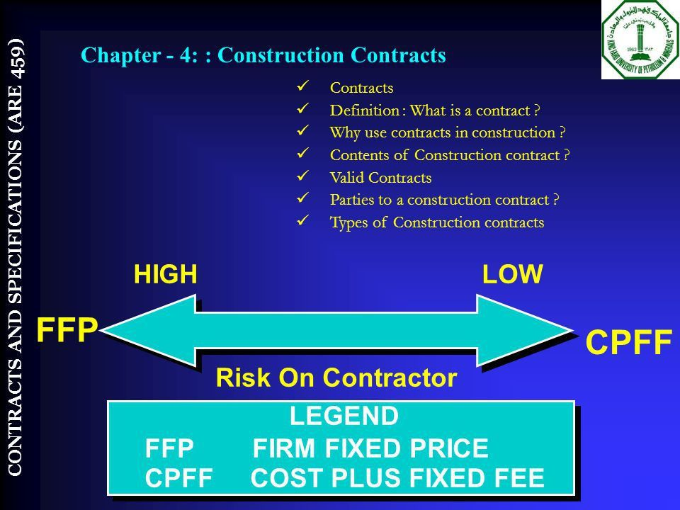 COURSE INTRODUCTION ARE 459 BY CONTRACTS AND SPECIFICATIONS - ppt ...
