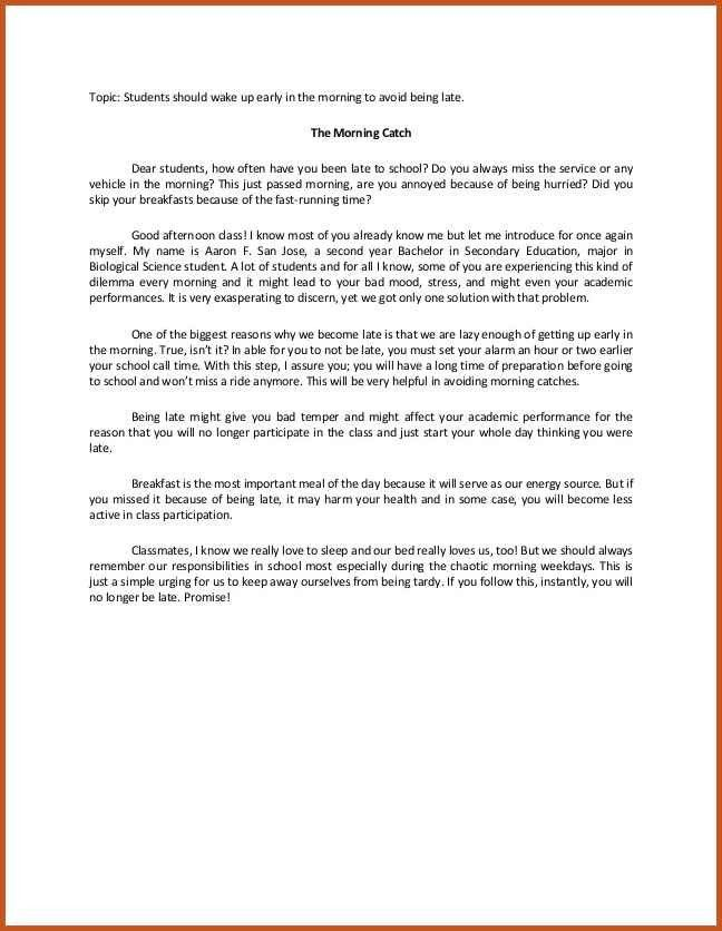 Speech Example. Sample Persuasive Speech Outline Template ...