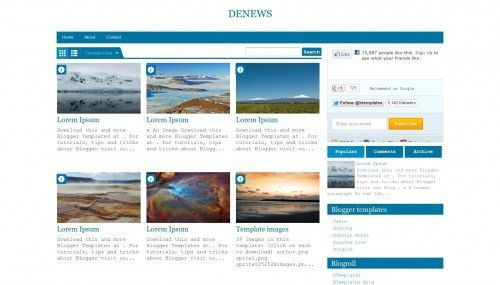 40 Free Fluid Width & Responsive Blogger HTML Templates - XDesigns