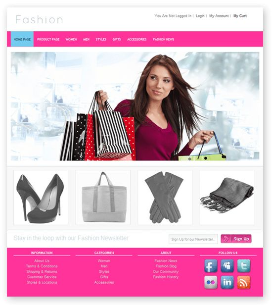 Fresh and Free Fashion Store Template - DMXzone.COM