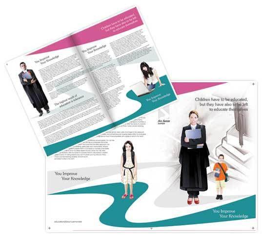 Child education brochure templates