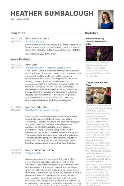 Tutor Resume samples - VisualCV resume samples database