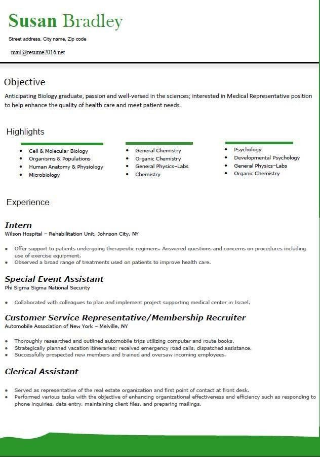 Standard Resume [Template.billybullock.us ]