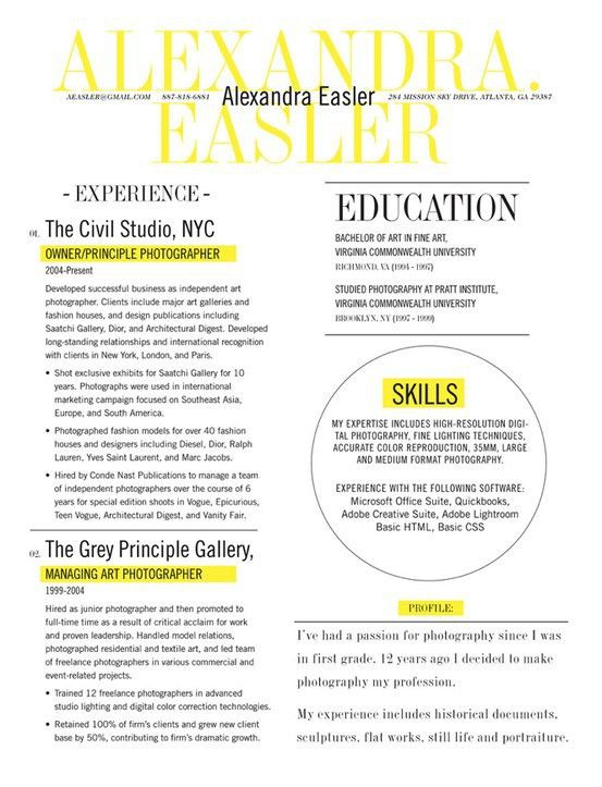 Resume Design - magazine layout NOW- just go find your job ...