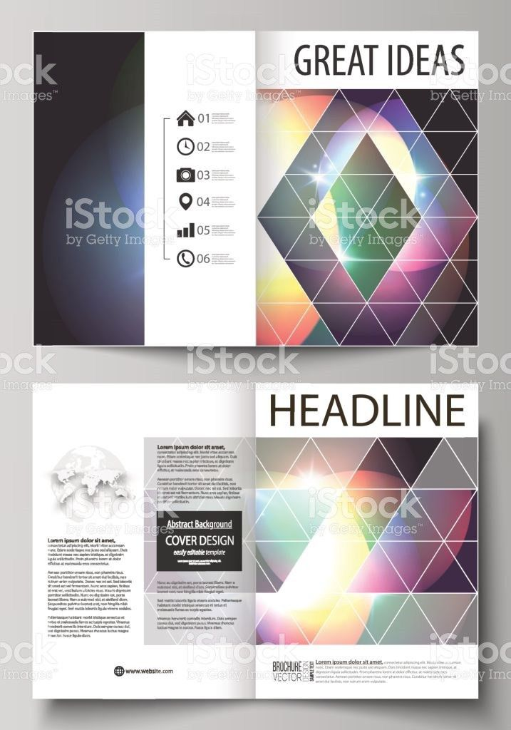 Business Templates For Bi Fold Brochure Magazine Flyer Booklet ...