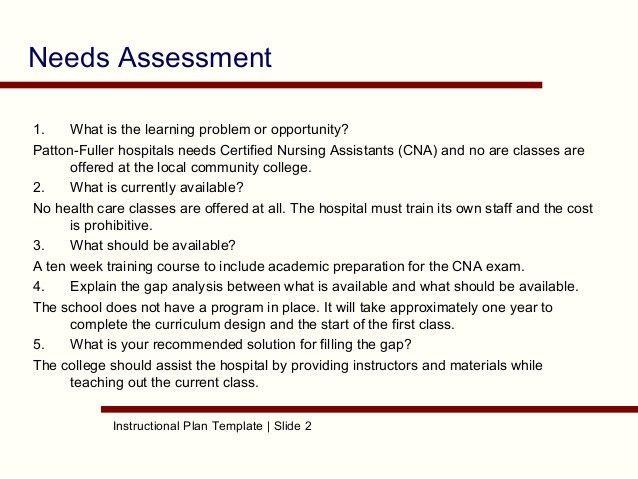 28+ Needs Assessment Proposal Template | Course Attendance ...