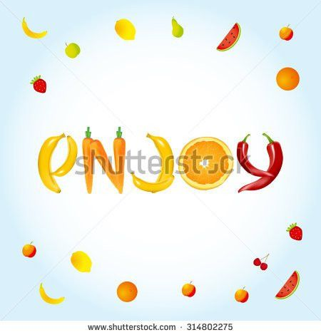 Enjoy Food Letters Banner Advertisement Template Stock Vector ...