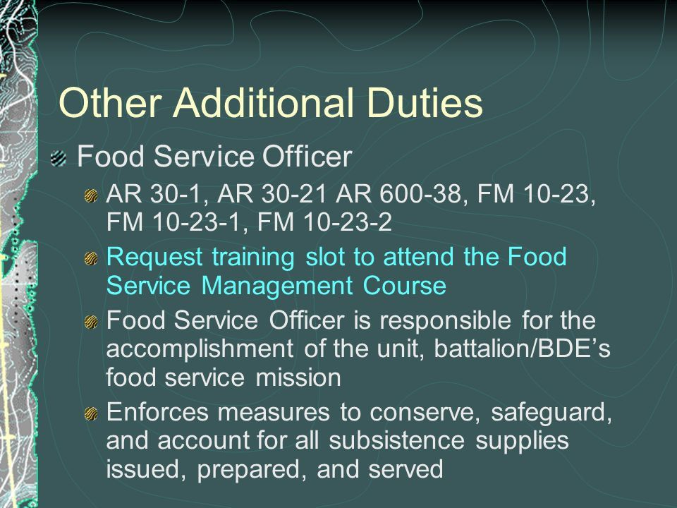 Additional Duties You arrive at your unit and your company ...