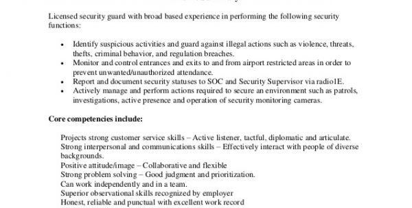 Security Resume Objective - formats.csat.co