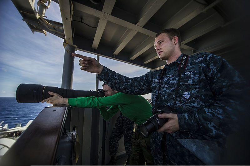 File:U.S. Navy Intelligence Specialist Seaman Lance Bouwman, right ...