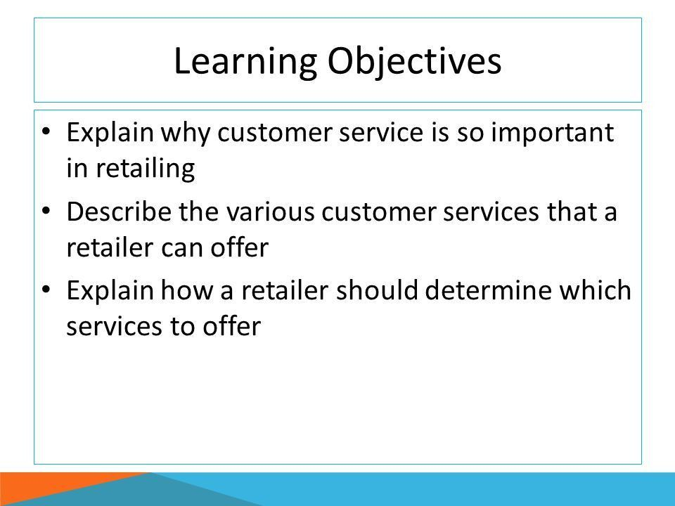Customer Services and Retail Selling - ppt download