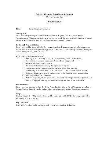 retail supervisor job description resume cv cover letter. sample ...