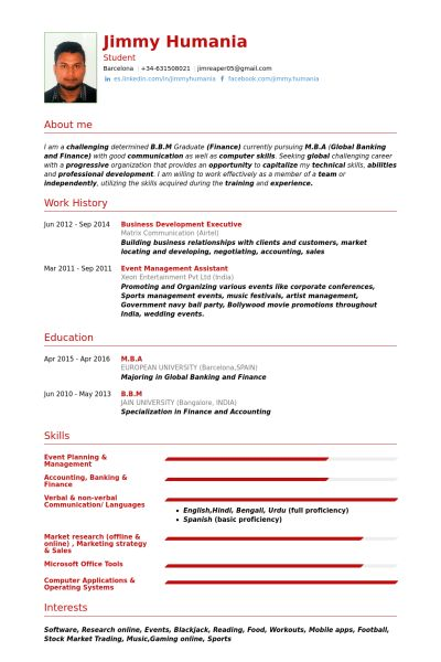 Business Development Executive Resume samples - VisualCV resume ...