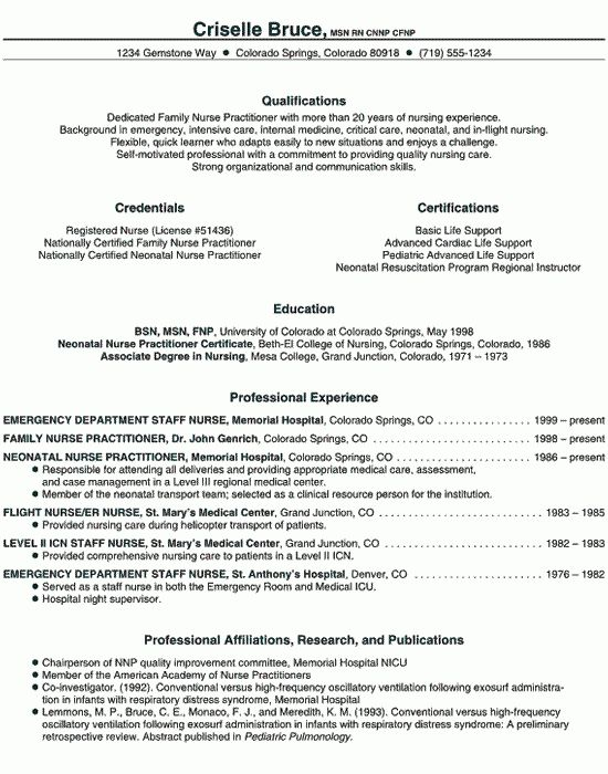 Practitioner Resume Example