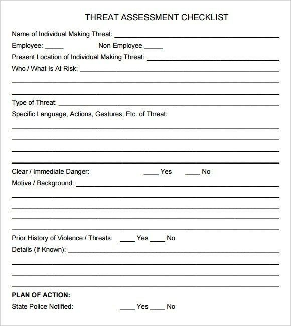 Threat Assessment Template. Practice Gap And Educational Needs ...