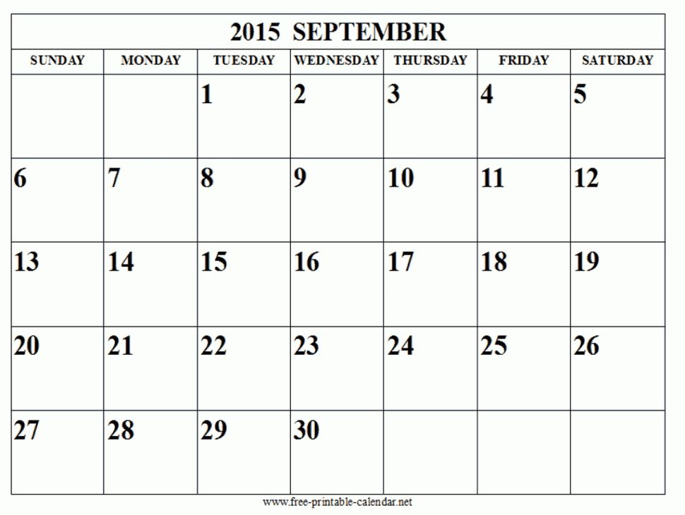 september 2015 calendar | Tips | Pinterest | September calendar ...