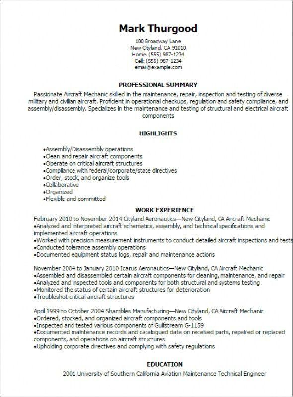Industrial Maintenance Technician Resume – Resume Examples
