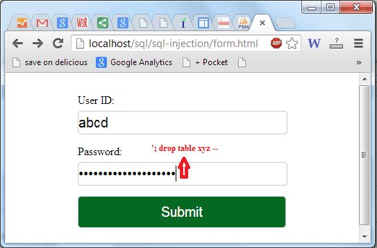 SQL Injection Tutorial - w3resource