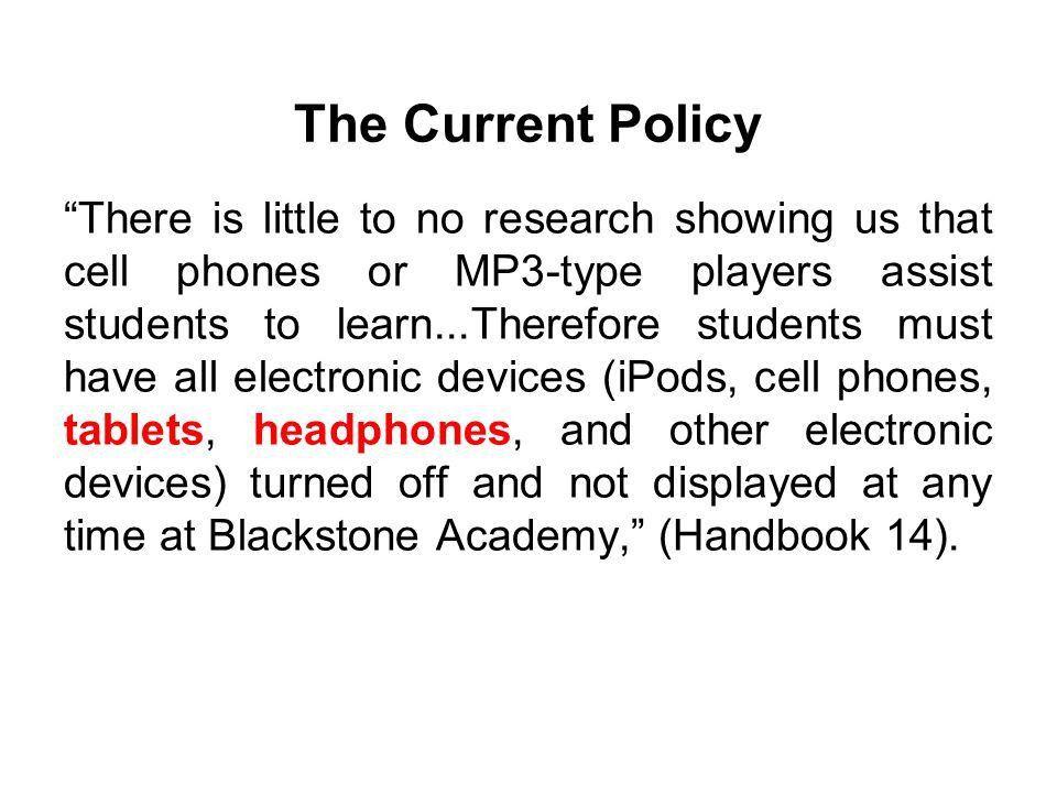 The Electronics Policy The Civics Class. Background ○Philadelphia ...