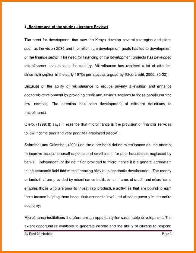 7+ literature review sample in research proposal   Proposal ...