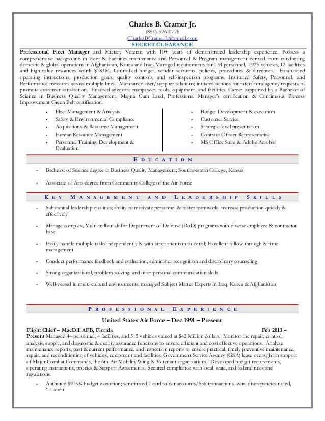 Fleet Manager Curriculum Vitae. curriculum vitae for mtisi simon 2 ...