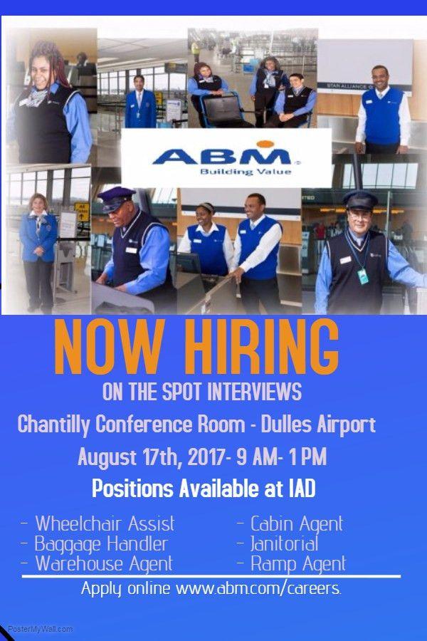 Dulles Airport Hiring Event - ABM Aviation | Virginia Employment ...
