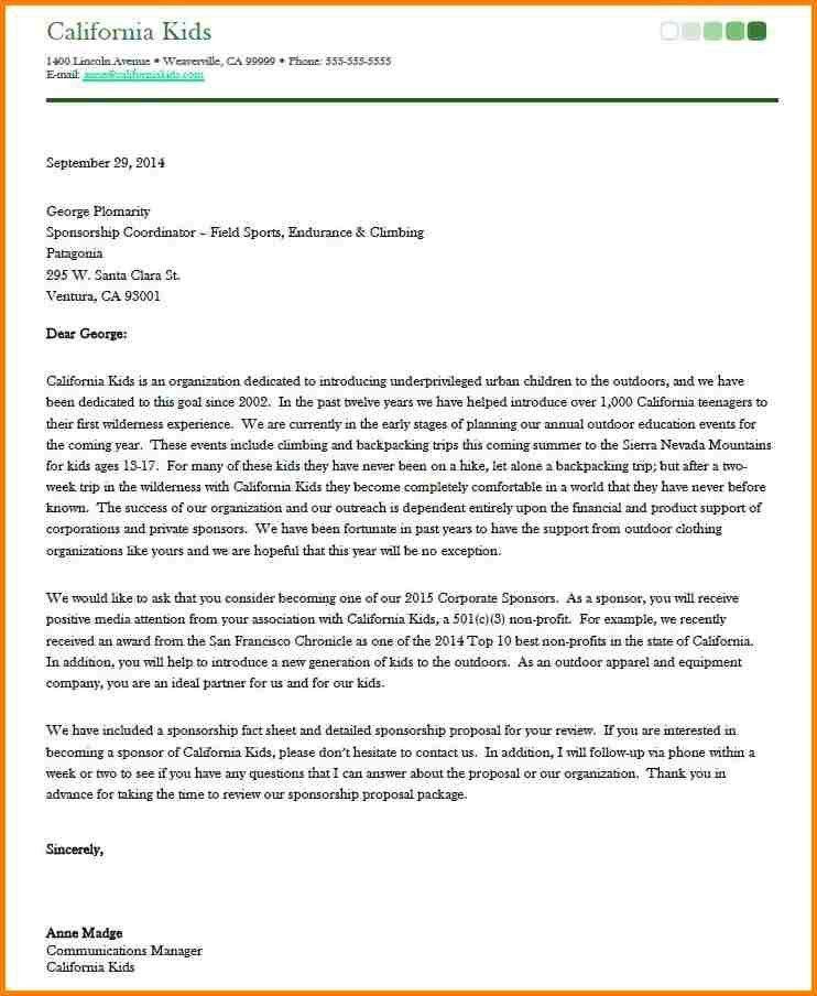 Download Cover Letter For Sponsorship Proposal ...