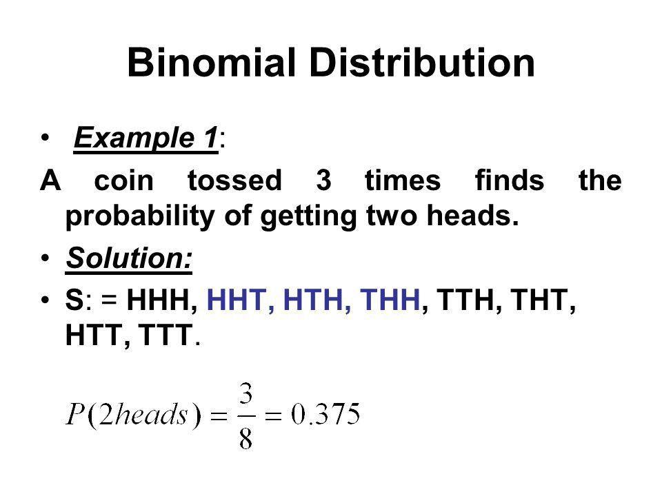 Binomial Distribution Introduction: Binomial distribution has only ...