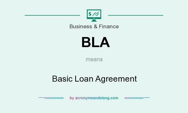 BLA - Basic Loan Agreement in Business & Finance by ...
