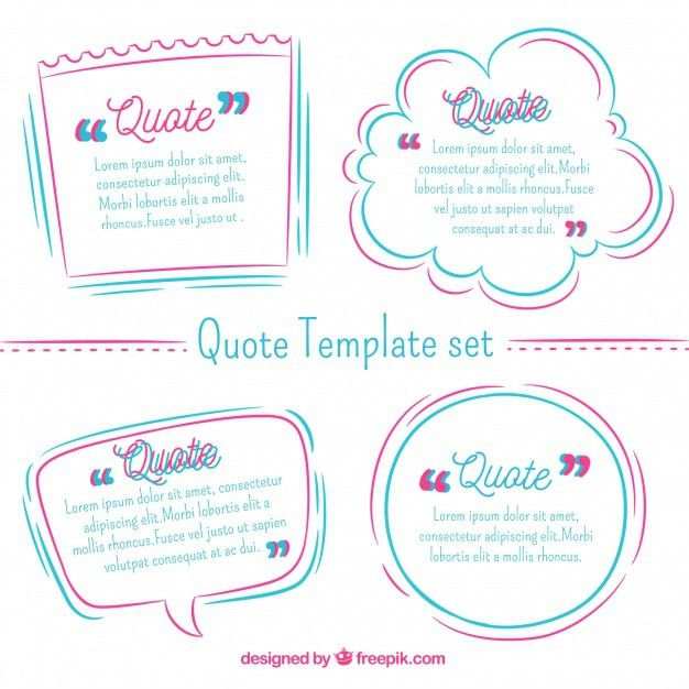 Cool modern collection of quote templates Vector | Free Download