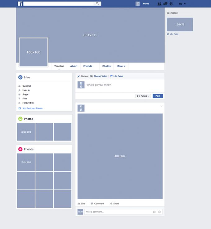 Facebook Template Available for Free Download | StudioStock