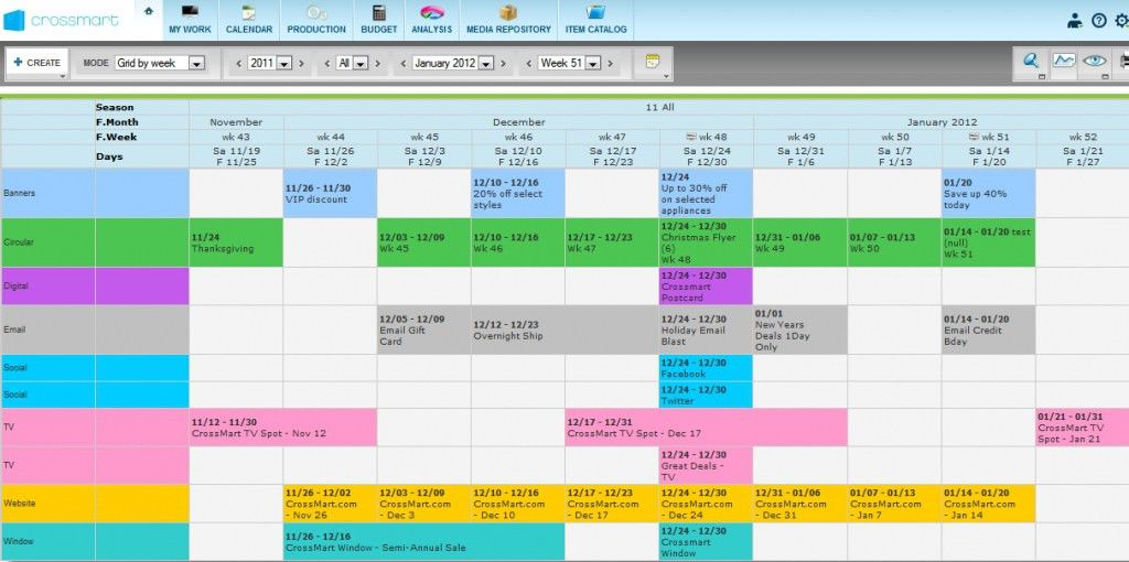 Marketing Calendar Template | peerpex