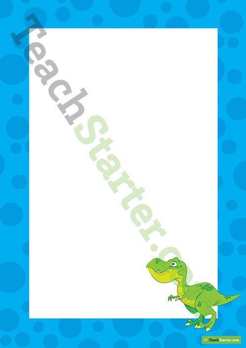 Dinosaur Border - Word Template Teaching Resource – Teach Starter