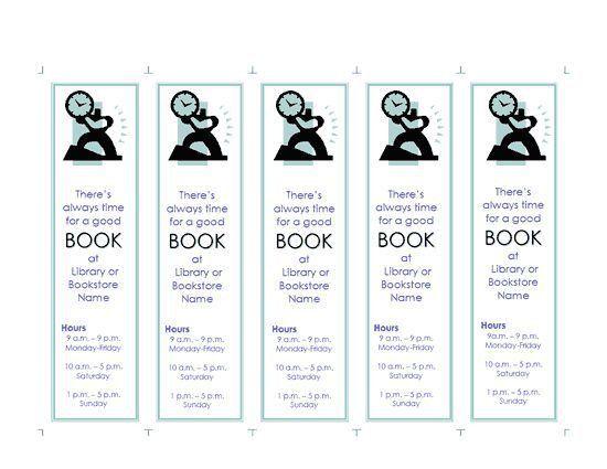 microsoft word blank bookmark template