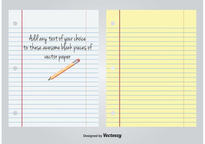 White and Yellow Lined Blank Paper - Download Free Vector Art ...