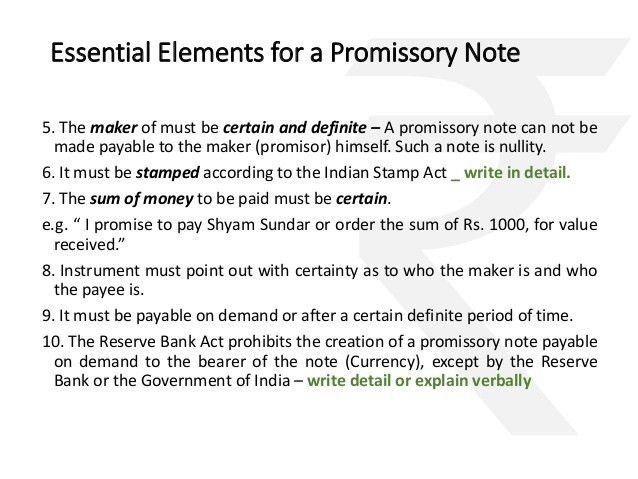 negotiable instruments only valid in India