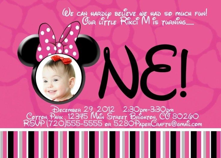 131 best Aeryn's 1st Birthday! images on Pinterest | Minnie mouse ...
