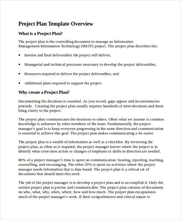 Sample IT Project Plan Template - 6+ Free Documents Download in ...