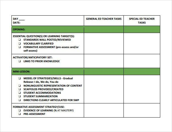 18+ Teacher Lesson Plan Templates - Free Sample, Example, Format